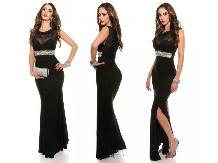 Černé společenské šaty Koucla, RYCHLÉ DODÁNÍ - Bestmoda - black evening prom dress