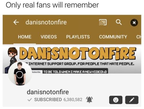I'm kind of bugged by it saying only real fans will remember but whatever still pinning it