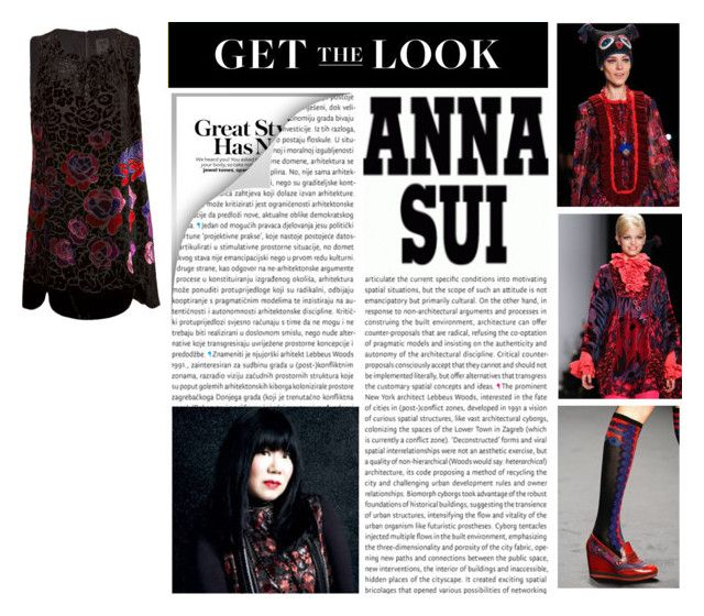 """""""Get The Look: Anna Sui"""" by Hybrid-Rainbow on Polyvore."""