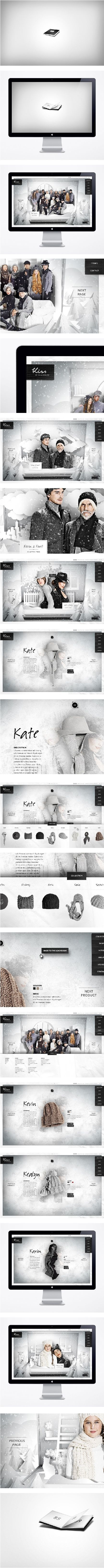 Website / Kiss by Fiona Bennett  Art Direction, Branding, Web Design: