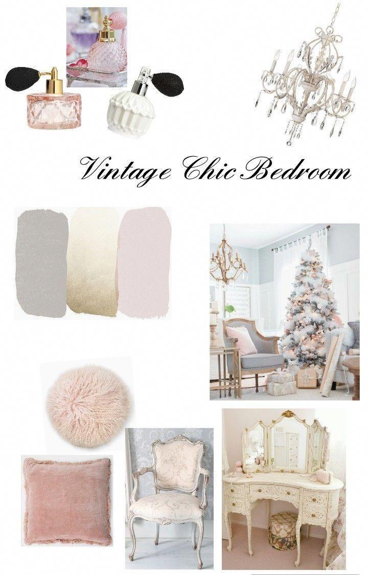 Vintage Chic Schlafzimmer Blush Pink Grau Und Gold