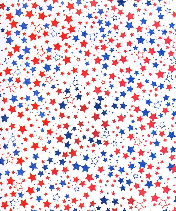patriotic July (Fourth of July red white blue stars)