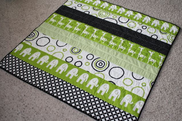 modern strip baby quilt on Craftsy                                                                                                                                                                                 More