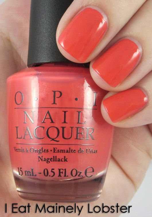 I Eat Mainely Lobster color by OPI... Totally my new favorite. Wearing it now.