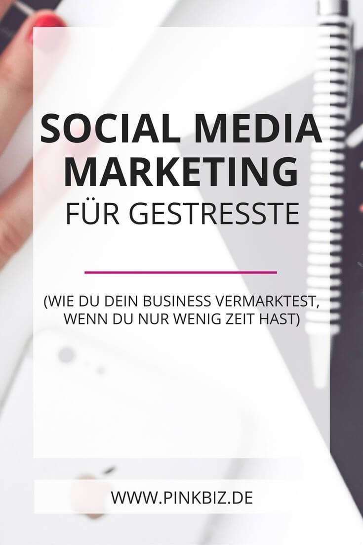 Social-Media-Marketing für Leute, die eigentlich keine Zeit dafür haben