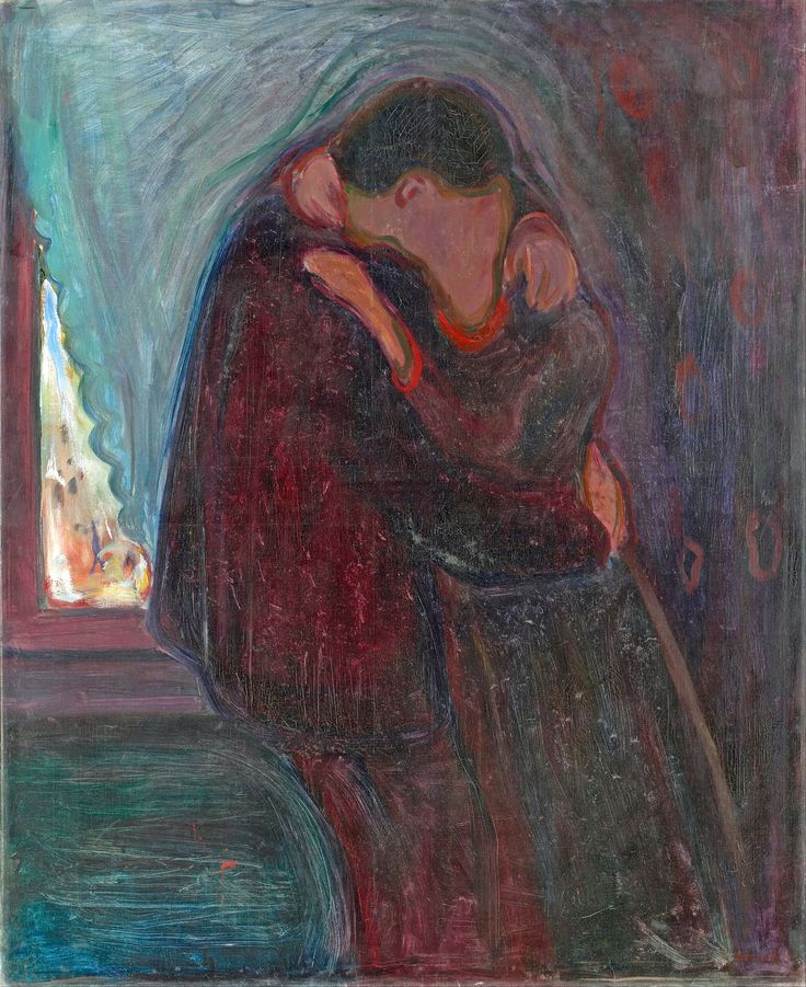 Edvard Munch - The kiss [1897]