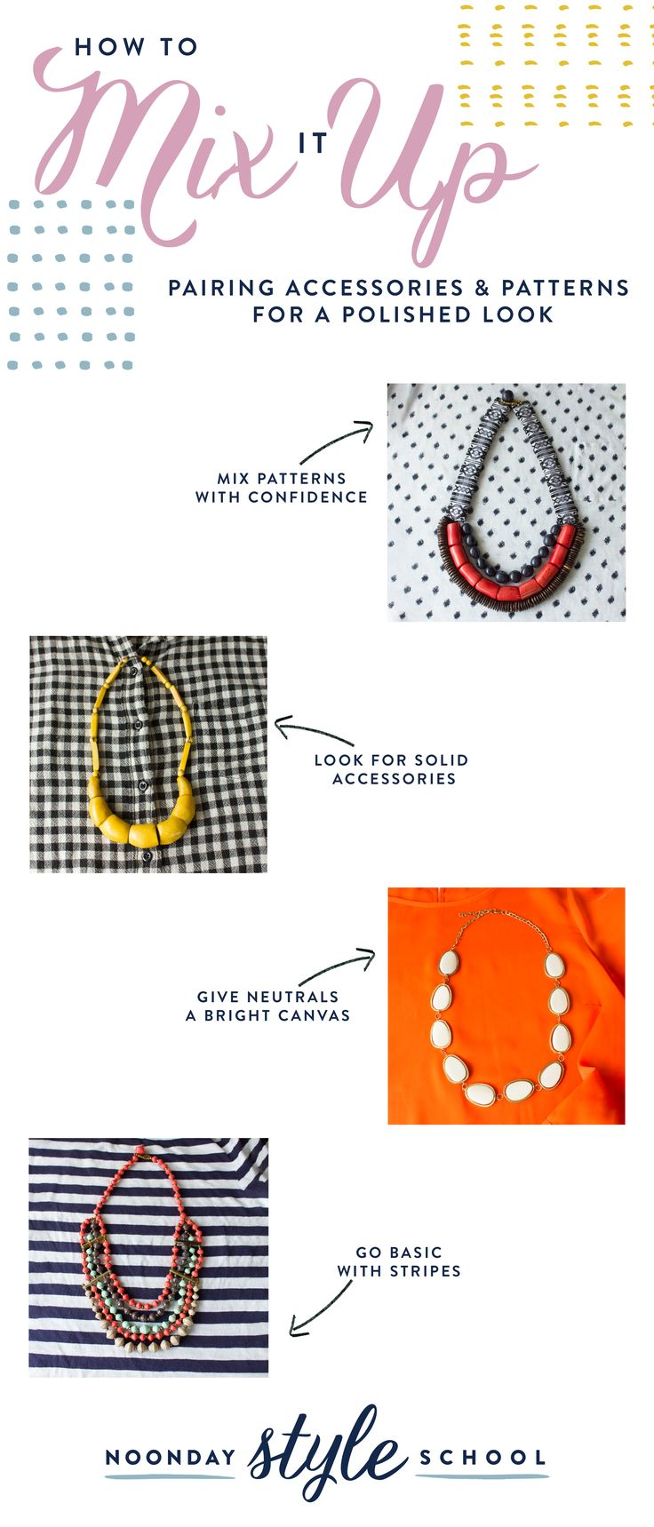 Are you ready for a wardrobe challenge? Learn how to wear bold statement necklaces with patterns. From stripes to polka dots, learn these stylists' secrets for pairing jewelry with prints.