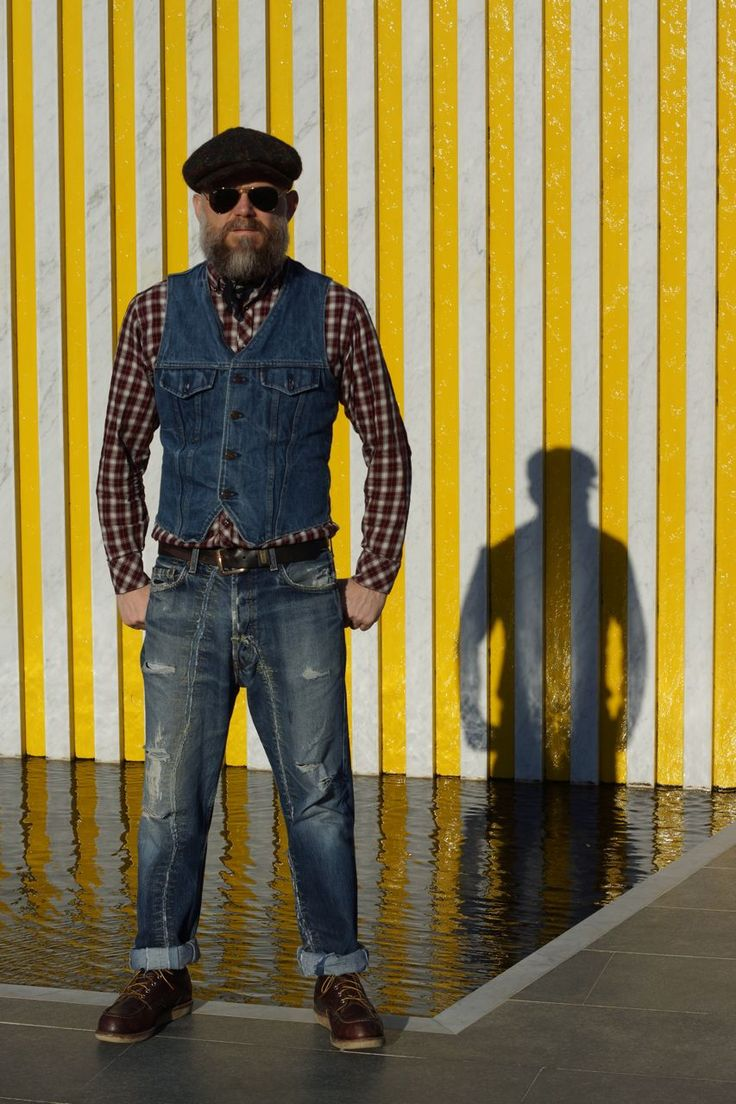Beards. Men. Going Gray. Denim. Photography.