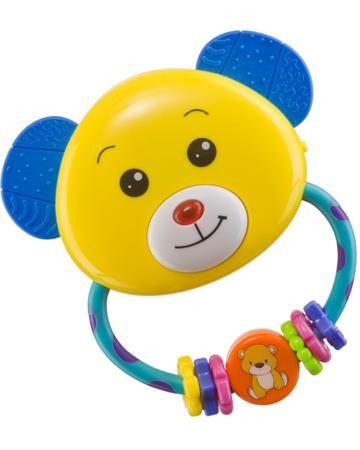 Happy baby Umkas  — 309р. -------------------------------------- Погремушка-прорезыватель Happy baby Umkas привлечет внимание крохи. Ярко-желтый мишка с синими ушками и милой улыбкой не оставит равнодушным малыша. На ручке расположены маленькие разноцветные колечки. Ушки с рельефной поверхностью прекрасно массируют дес...