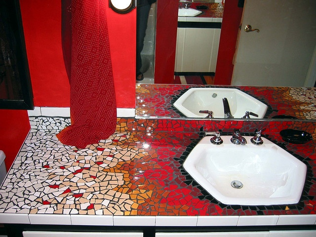 17 best images about mosaic tile ideas on pinterest for Mosaic tile bar top