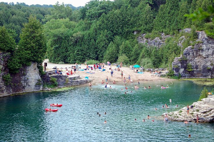 If you're planning to go day tripping this summer, one of the best spots to visit is this former limestone quarry about an hour northwest of Toront...