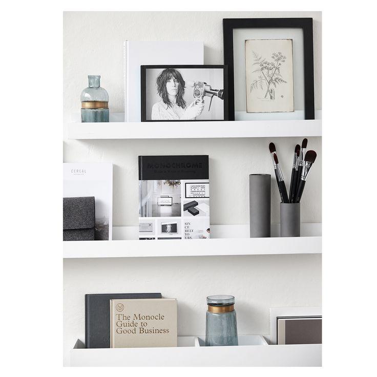 regal bilderleiste wei lackierte bilderleiste small - Bucherregal Wand Als Mobeldekoration Und Funktionell