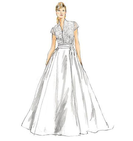 propos de Patron Robe De Mariée sur Pinterest  Robes de mariée de ...