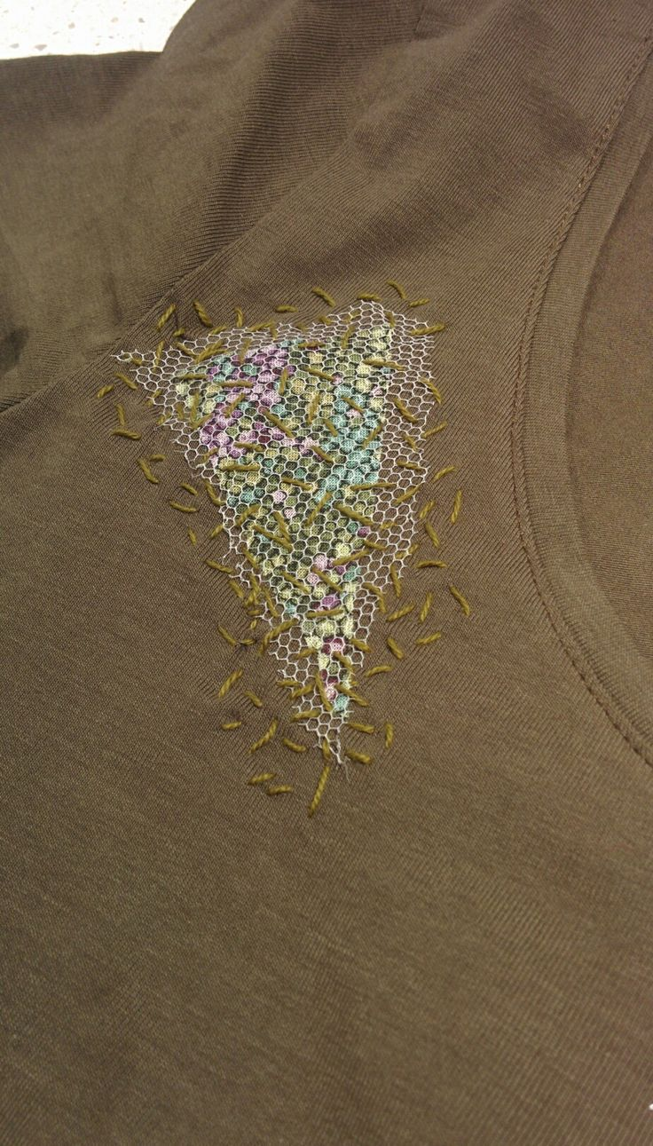 Free embroidery to mend or cover a hole in my favorite t-shirt