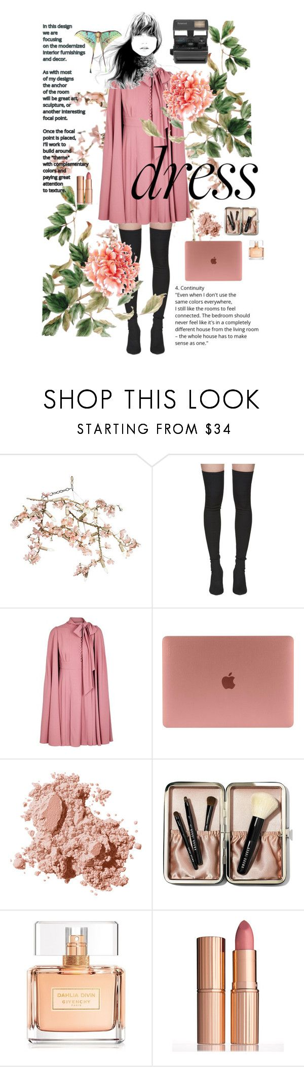 """""""Garden roses"""" by elizabeth-giess ❤ liked on Polyvore featuring Canopy Designs, Yeezy by Kanye West, Valentino, Bobbi Brown Cosmetics, Givenchy, Charlotte Tilbury and Impossible"""