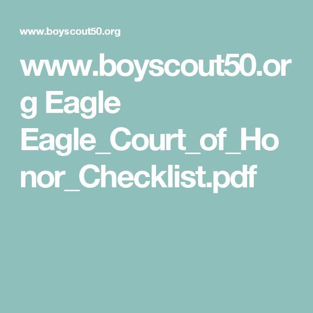 www.boyscout50.org Eagle Eagle_Court_of_Honor_Checklist.pdf