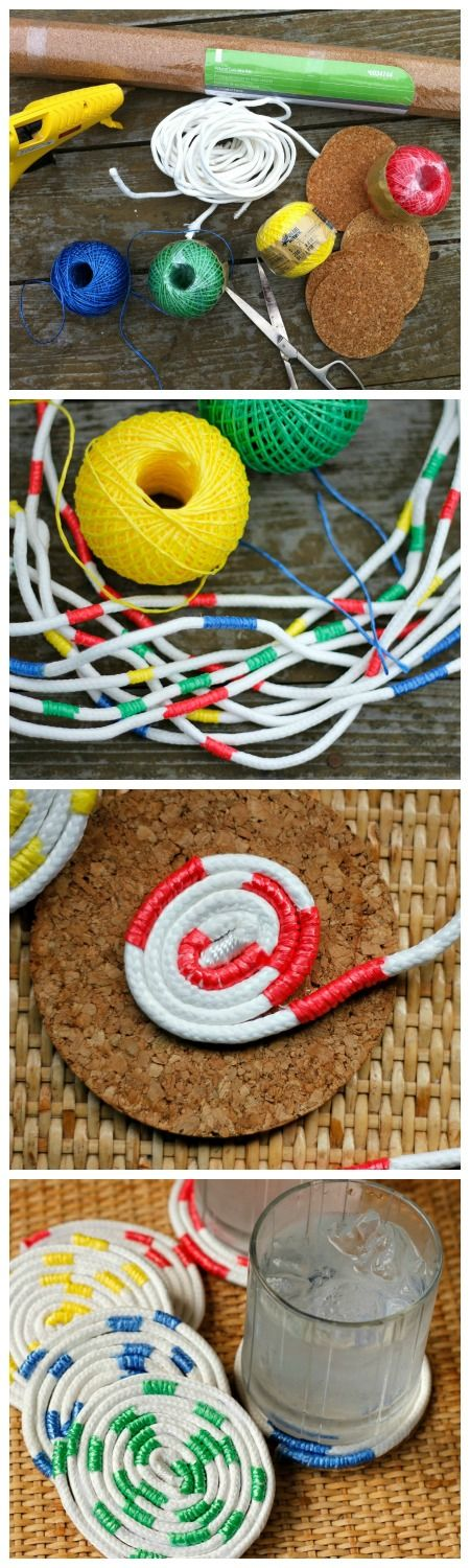 How to make colorful rope coaster. Very easy! #LowesCreator #ad