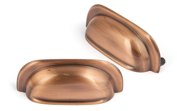 Hardy Cup Furniture Handle Copper | Sarah Beeny Home Handle Collection