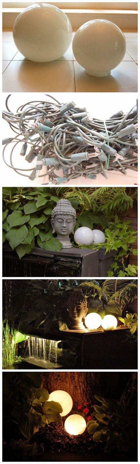 Glowing Outdoor Orbs My Garden Pinterest Outdoor