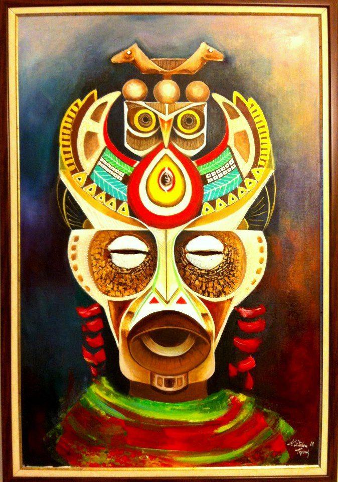 oilpaint, african shaman