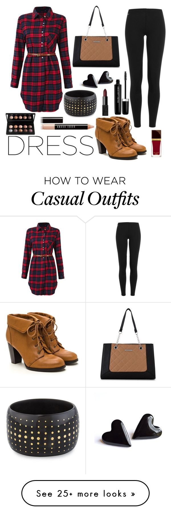 """Casual Dress"" by sleepyandstylish on Polyvore featuring Ralph Lauren Blue Label, Nine West, Ashley Pittman, Marc Jacobs, Tom Ford, Bobbi Brown Cosmetics and NARS Cosmetics"