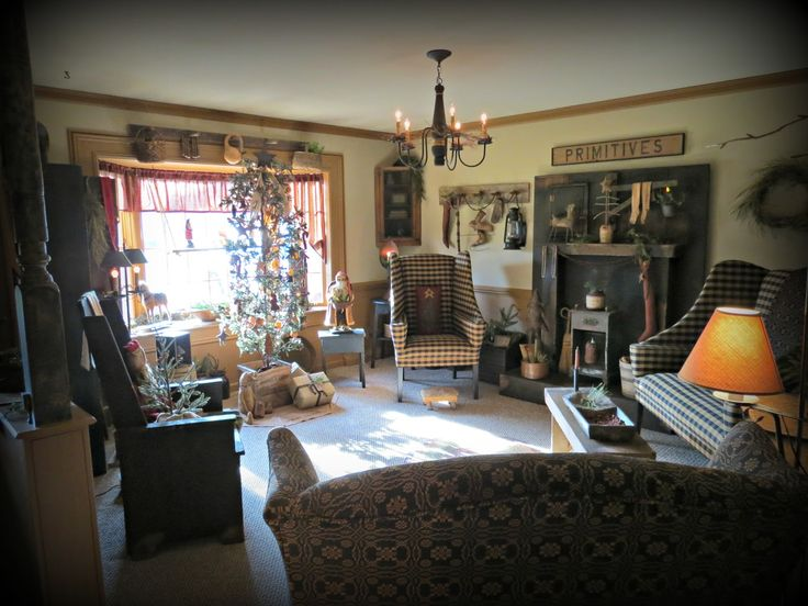 662 Best Images About Primitive Living Rooms On Pinterest Country Sampler