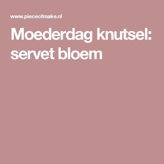 Moederdag knutsel: servet bloem