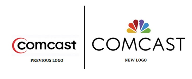 comcast�s logo uses nbc�s peacock logo design