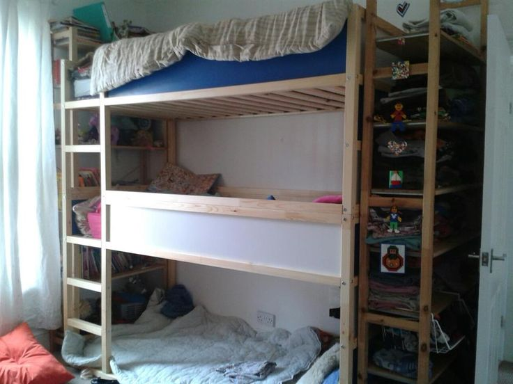 Ikea Hack Triple Bunk With Storage