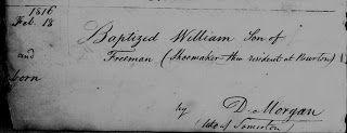 Baptism of William Freeman 1816