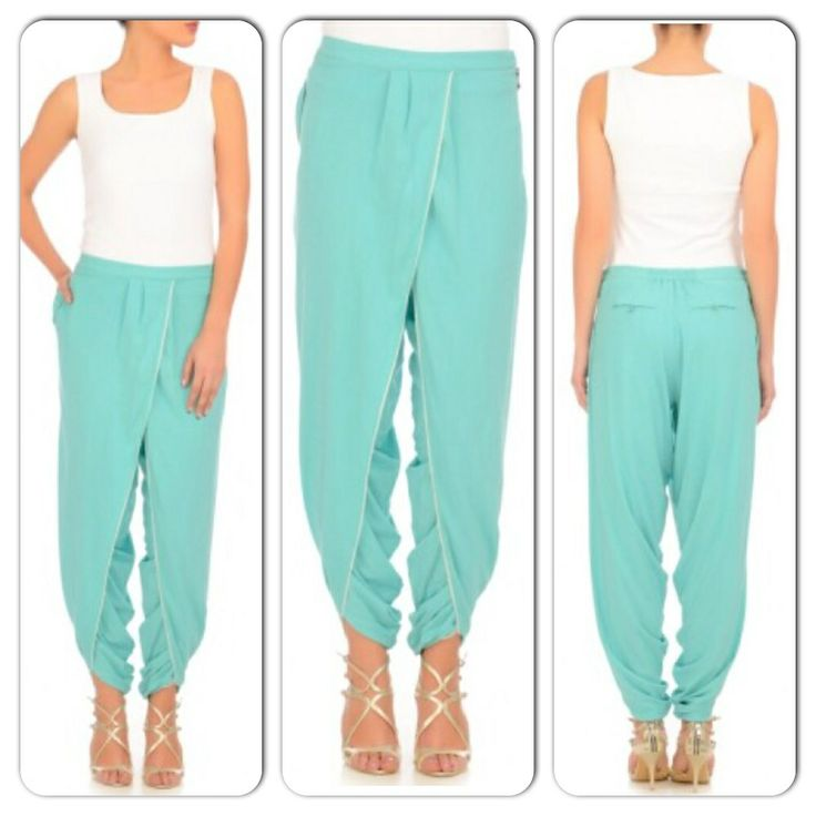 Jade green dhoti pants