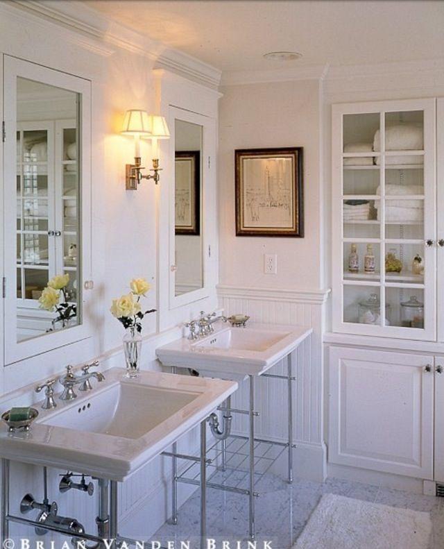 White Bathroom Cabinet Bathroom Pinterest White