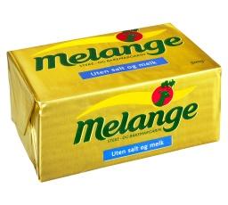 Melange uten salt og melk (blå rute med informasjon på pakka), brukes som vanlig margarin. Finnes i alle matvarebutikker.