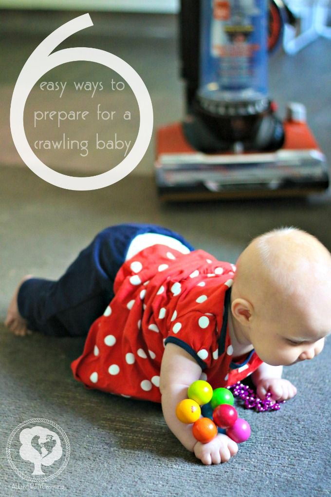 6 quick tips on preparing your home for a crawling baby. Our second child actually showed signs of wanting to crawl at 3 months old, so this was a great time to get everything prepped around the house while she was still stationary and not mobile.