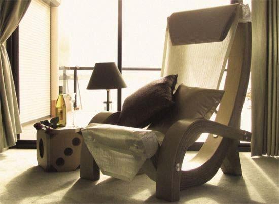 corrugated cardboard armchair