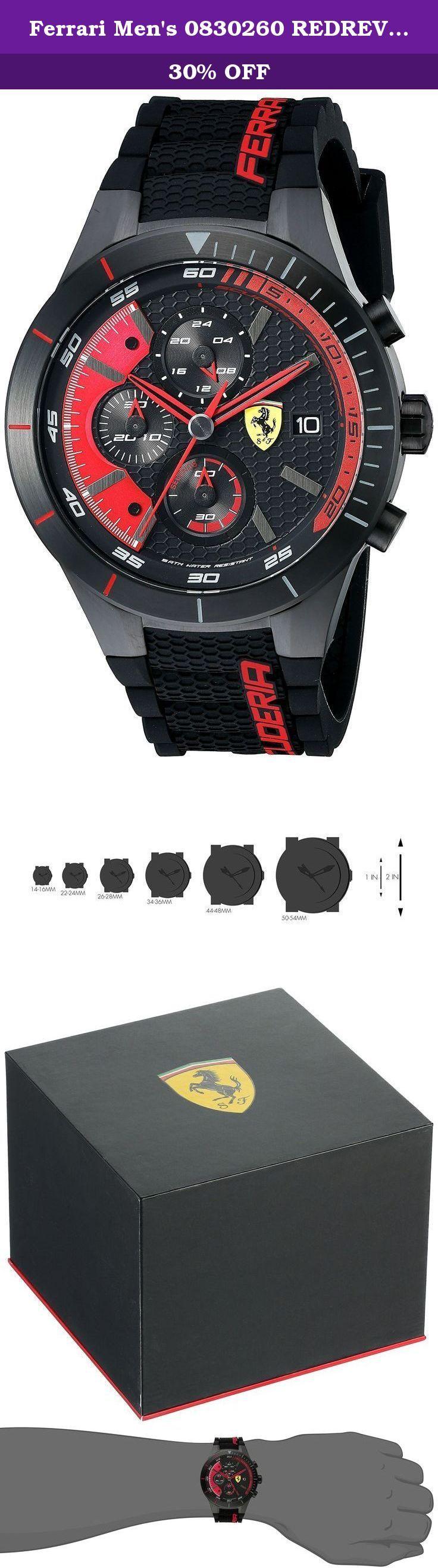 ferrari mens 0830260 redrev evo analog display quartz black watch red rev captures the thrill