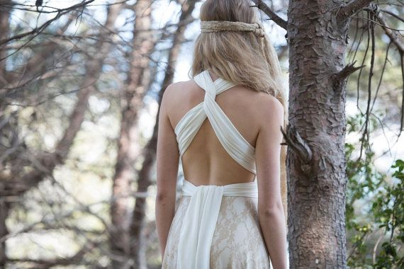 Rückenfrei Spitze Hochzeitskleid Brautkleid böhmische von mimetik