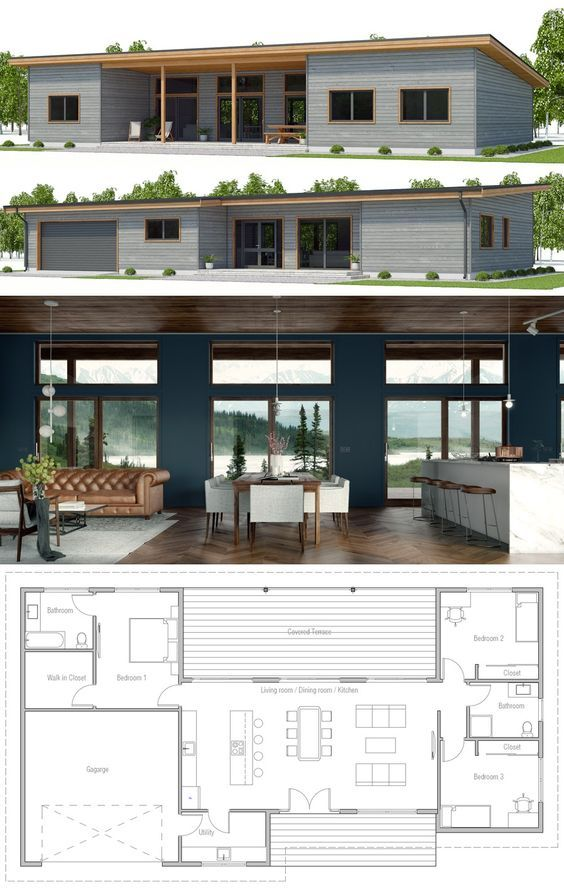 Home plan, home plans, Small House Plan, Modern Home Plan, Single