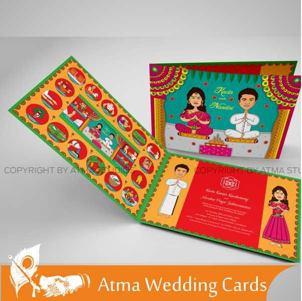 8 best wedding cards images on pinterest studio studios and product atma studios wedding card 6 category wedding invitation design for price details whatsapp stopboris Images