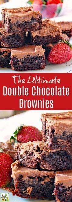 The Ultimate Double The Ultimate Double Chocolate Brownies...  The Ultimate Double The Ultimate Double Chocolate Brownies Recipe. Click to get this easy chocolate brownies recipe. Comes with tips for making this chocolate dessert recipe gluten free dairy free and nut free. Recipe : http://ift.tt/1hGiZgA And @ItsNutella  http://ift.tt/2v8iUYW