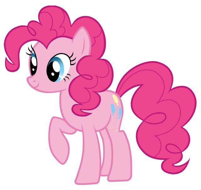 My Little Pony: Dibujos para imprimir y recortar de Pinkie Pie