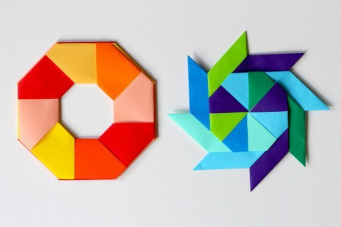 Easy Origami star. 3D Paper star 6 point. Ideas for Christmas ... | 467x700