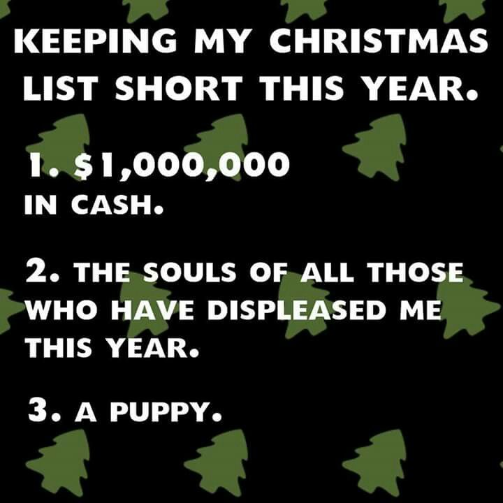 INTJ Christmas List