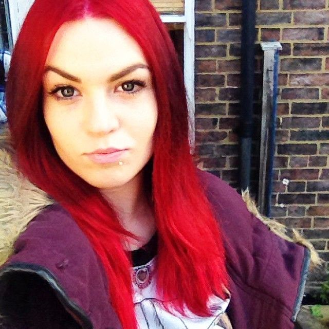 Used loreal hicolor highlights in magenta and 30vol developer to get this colour from wahsed out cherry red