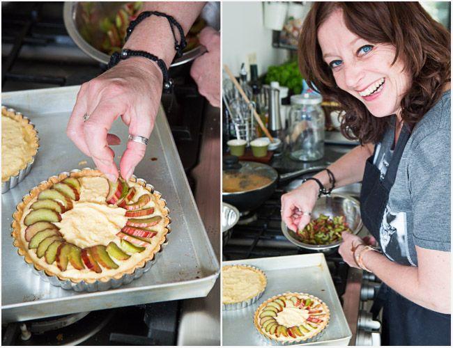 Rhubarb frangipane tarts and happy birthday Charlotte!