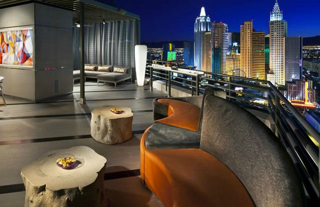 MGM's Skyline Terrace Suite. 1300 sq ft of penthouse swank with views to die for. I think I need to plan a party...