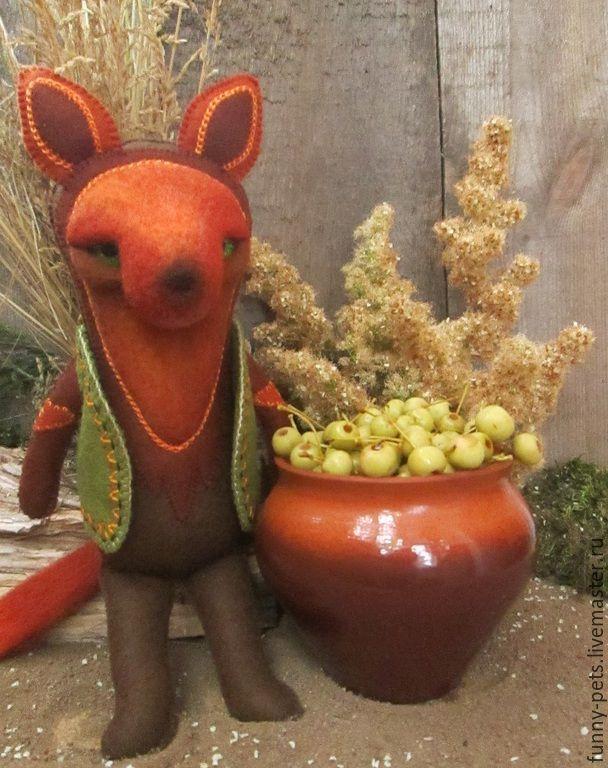 Купить Игрушка Лис. Сладкий октябрьский эль. - рыжий, лис, лисичка игрушка