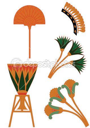 Египетские украшения вектор — Векторная картинка #1845692
