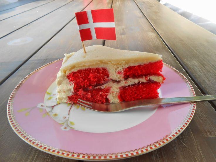 En flagkage from Tante Sød: Russisk fødselsdag på dansk, recipe in Danish