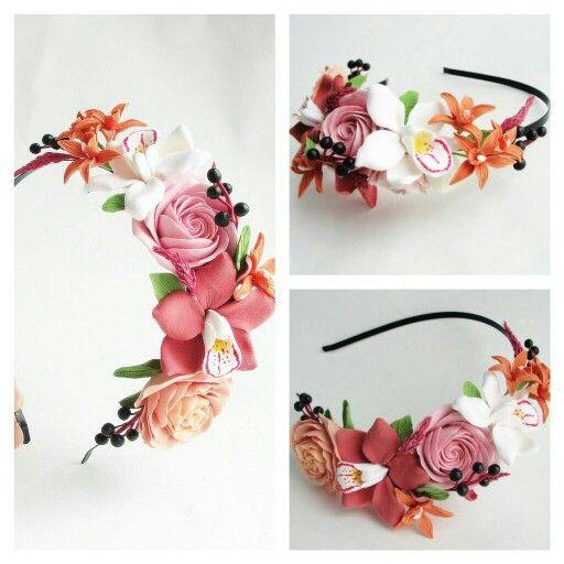 Headband. Handmade flowers. Flowers. Handmade. Handcrafted. Hair accessories. Wedding flowers. Wedding accessories. Wedding. Flowers.